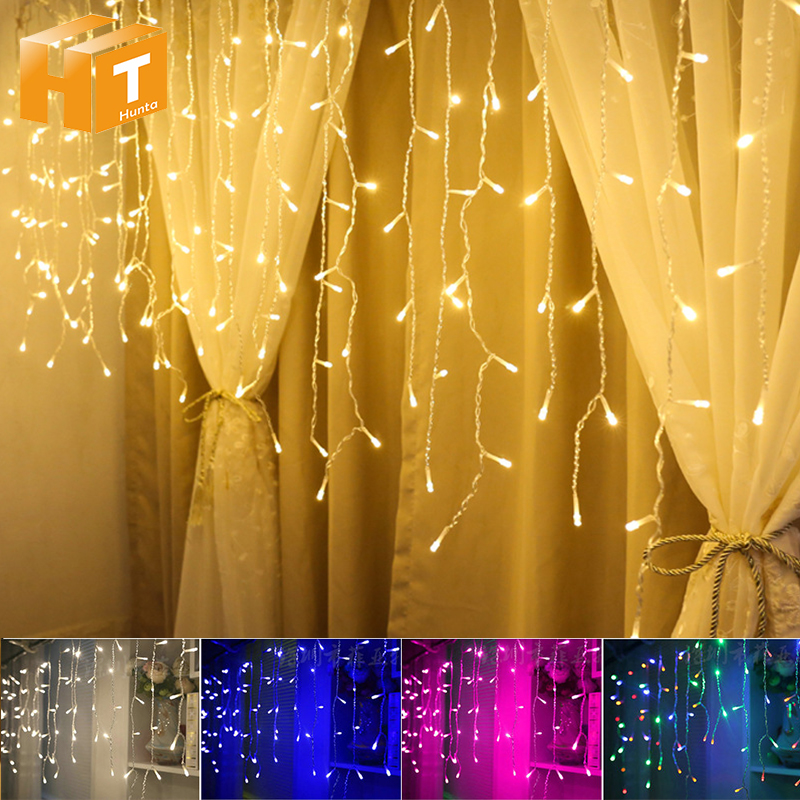 Led Icicle String Lights 5m 216leds Garland Christmas Tree