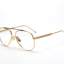 Нью-Йорк Thom бренд Круглый лягушка очки с винтажной оправой кадров Для мужчин Для женщин Clear очки с линзами для рецепт очки TB118