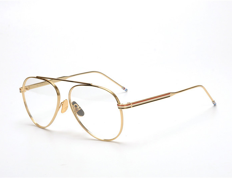 New york Thom brand Round Frog Frame Vintage Eyeglasses Frames Men Women Clear Lense Glasses For Prescription Eyewear TB118 image