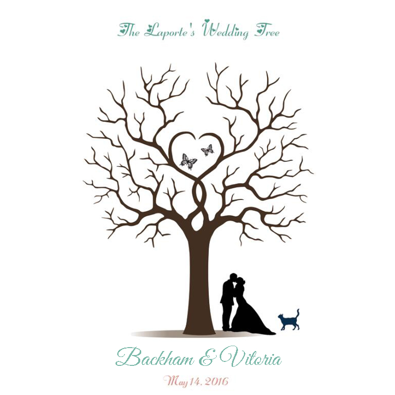 Wedding Guestbook Thumprint Tree Canvas A Great Wedding: Aliexpress.com : Buy 50x70CM Personalize Wedding