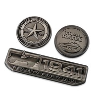 Vintage 1941 75 Anniversary Bar Ronde Ster TRAIL RATED Badge Chroom Metalen Auto Styling Sticker voor Jeep Wrangler Cherokee Kompas