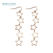 2017 New Hot 1PC Fashion Jewelry Form Sansummer Long Star Hollow out Simple Romantic Feautiful Classic Drop Earrings 029 цена