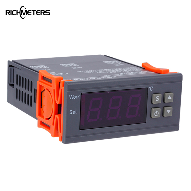 RICHMETERS Temperature controller aquarium thermal regulator incubator thermometer -50~110 Celsius Degree 90-250V 20 pcs ry series metal 192 celsius 250v 10a cutoffs thermal fuse