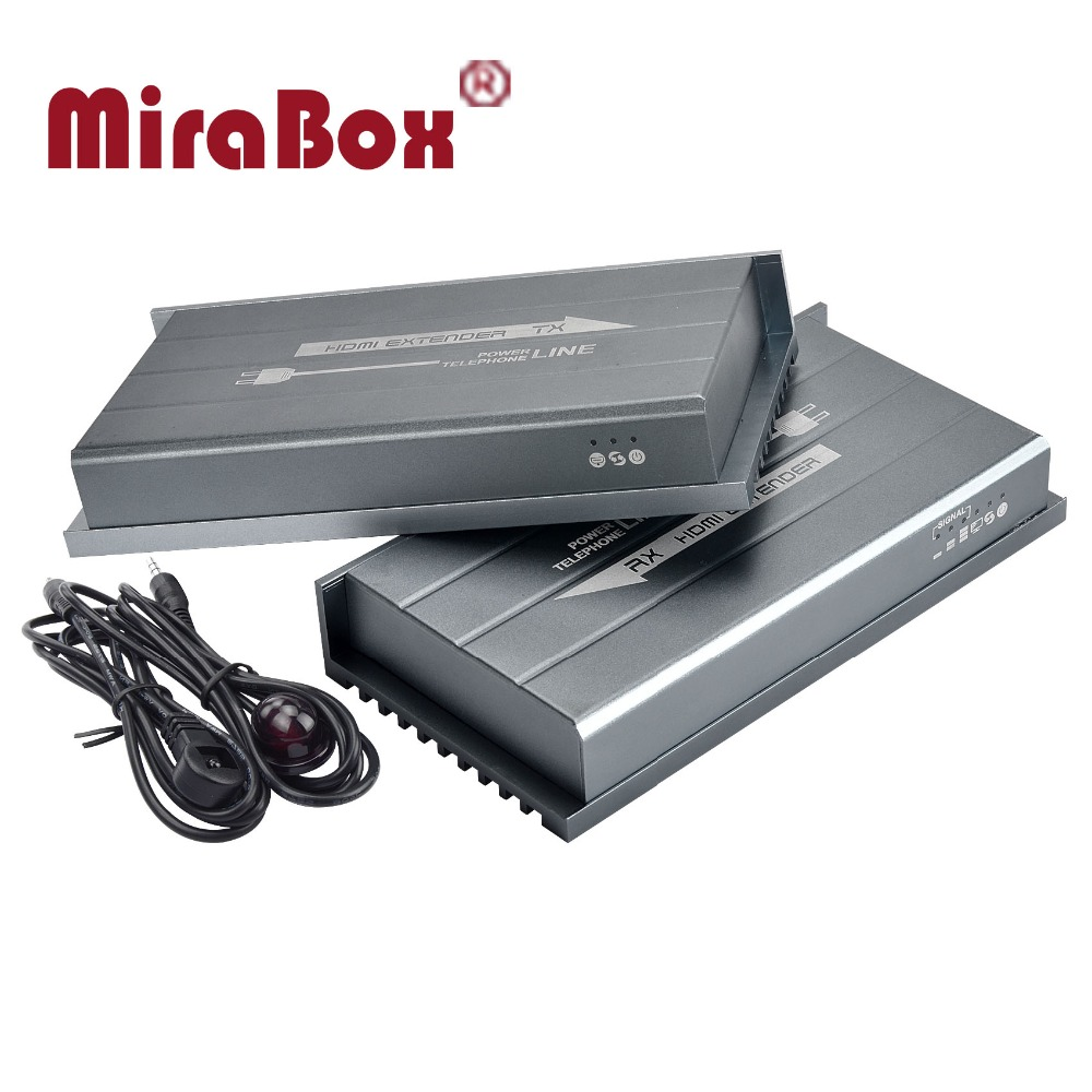 MiraBox 300m By Powerline 200m By telephone line Hdmi wireless extender support 1080p IR control No Delay Lossless Hdmi receiver hsv900ir 1080p hdmi over home s powerline extender ir with loopout support 300m 984ft transmission hdmi over powerline extender