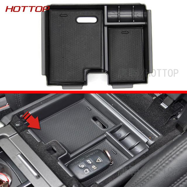 Recipiente de armazenamento de apoio de braço Central caixa bandeja organizador carro terno para Land Range Rover Evoque 2014-2016 acessórios do carro, estilo do carro