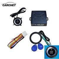 CARCHET Keyless Entry Alarm Push Start LED Button RFID Lock Engine Starter Ignition DC 12V 8mA Blue LED Light Universal Starline