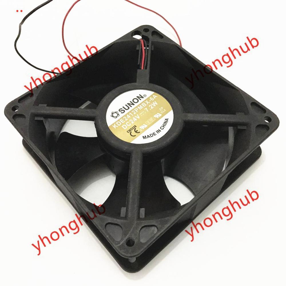 SUNON KDE2412PMBX 6A DC 24V 7 2W 120x120x38mm Server Cooler Fan