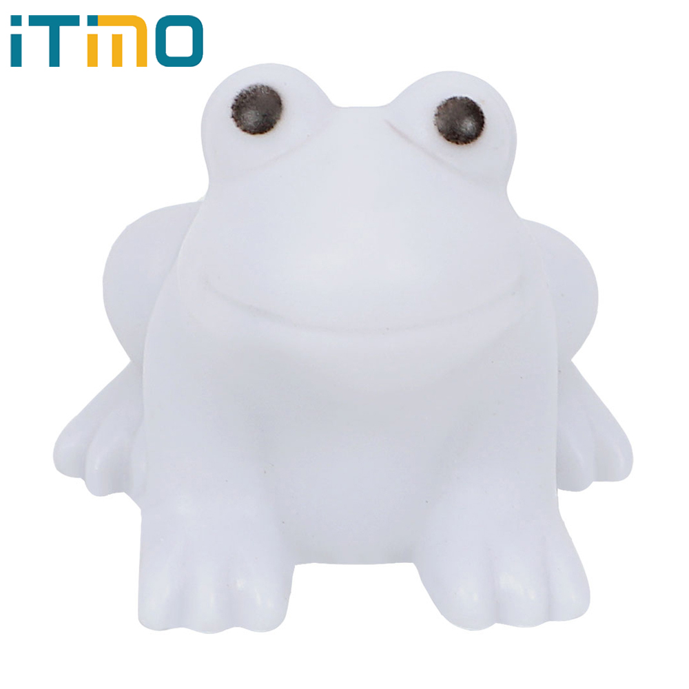 ITimo Color Changing LED Frog Night Light Bedroom Decoration Home Indoor Lighting Lamp Cute Nightlights for Baby Kids Gift