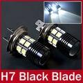 2X H7 del coche LED 12 W poder más elevado Foglights 12 5050 SMD CREE Q5 lente del proyector 12 V blanco bulbos autos de la lámpara