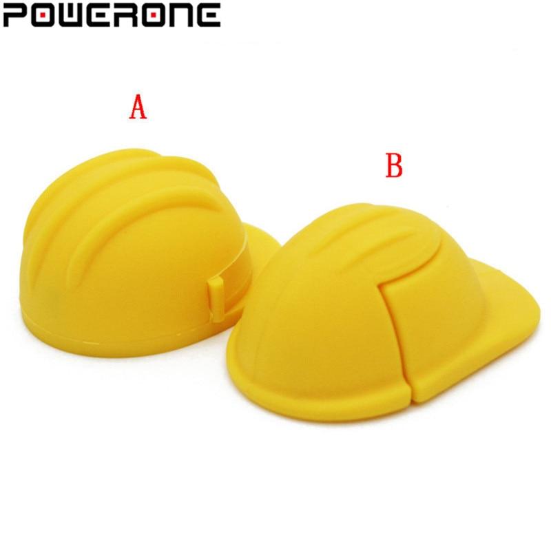 External Storage Powerone Yellow Helmet Usb Flash Drive Hat Pendrive 4gb 8gb 16gb 32gb 64gb Self Hat Pendrives Memory Stick Great Varieties