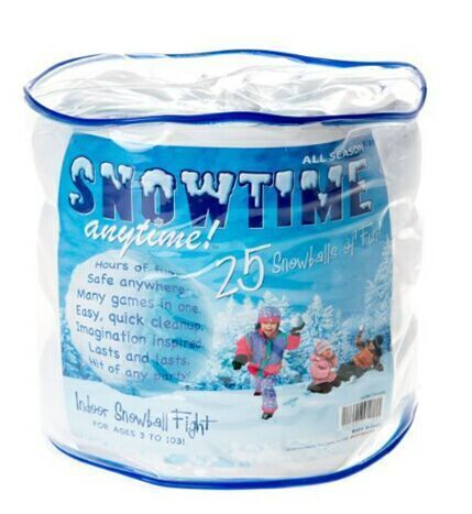 2016 New Snowtime Indoor Snowballs Christmas Gift For Children Enjoy Fights Safe And Fun Game