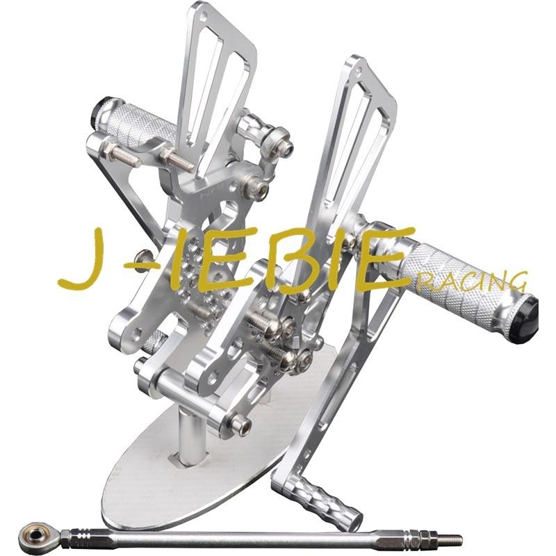 CNC Racing Rearset Adjustable Rear Sets Foot Pegs Fit For Suzuki GSXR1000 GSXR 1000 2007 2008 K7 SILVER