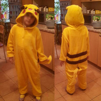 Unicorn Pokemon Pikachu Flannel Animal Pajamas Onesie Kids Flannel Unicorn Cosplay One Piece Sleepwear Halloween Costumes