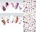 DS071 2015 дизайн ногтей воды Перенесите ногтей Art наклейки Красочные бабочки ногтей Обертывания наклейки Watermark Ногти отличительные знаки