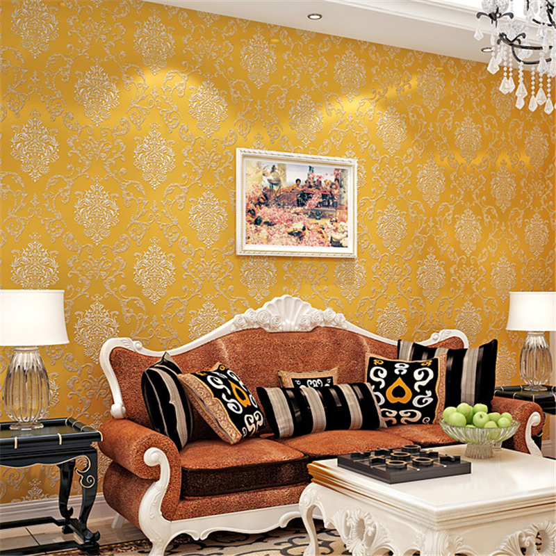 beibehang Simple personality non-woven wall paper Damascus European bedroom dubbing living room TV papel de parede 3d wallpaper beibehang papel de parede 3d retro dimensional non woven wallpaper for walls 3d living room bedroom damascus backdrop wall paper