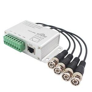 Image 2 - ESCAM transmisor pasivo CCTV de 4 canales, Balun de vídeo BNC macho a UTP Rj45 Cat5 4 CH UTP Balun de vídeo, transmisión para sistema de videovigilancia