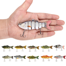 Lixada 10cm 20g Wobblers Fishing Lure 6 Segment Crankbait Swimbait Bait Isca Artificial Fish Lure With Hook Fishing Tackle Pesca