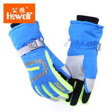 Winter Hewolf Brand Waterproof Skiing font b Gloves b font Men Women Warm Durable Outdoor Camping
