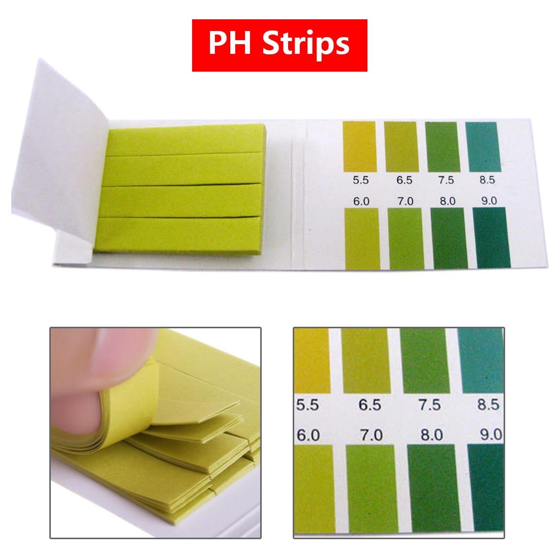 80 Strips/pack PH Test Strips PH Meter Paper PH Controller 5.5-9.0 Indicator Litmus Paper Aquarium Water Soilsting Kit