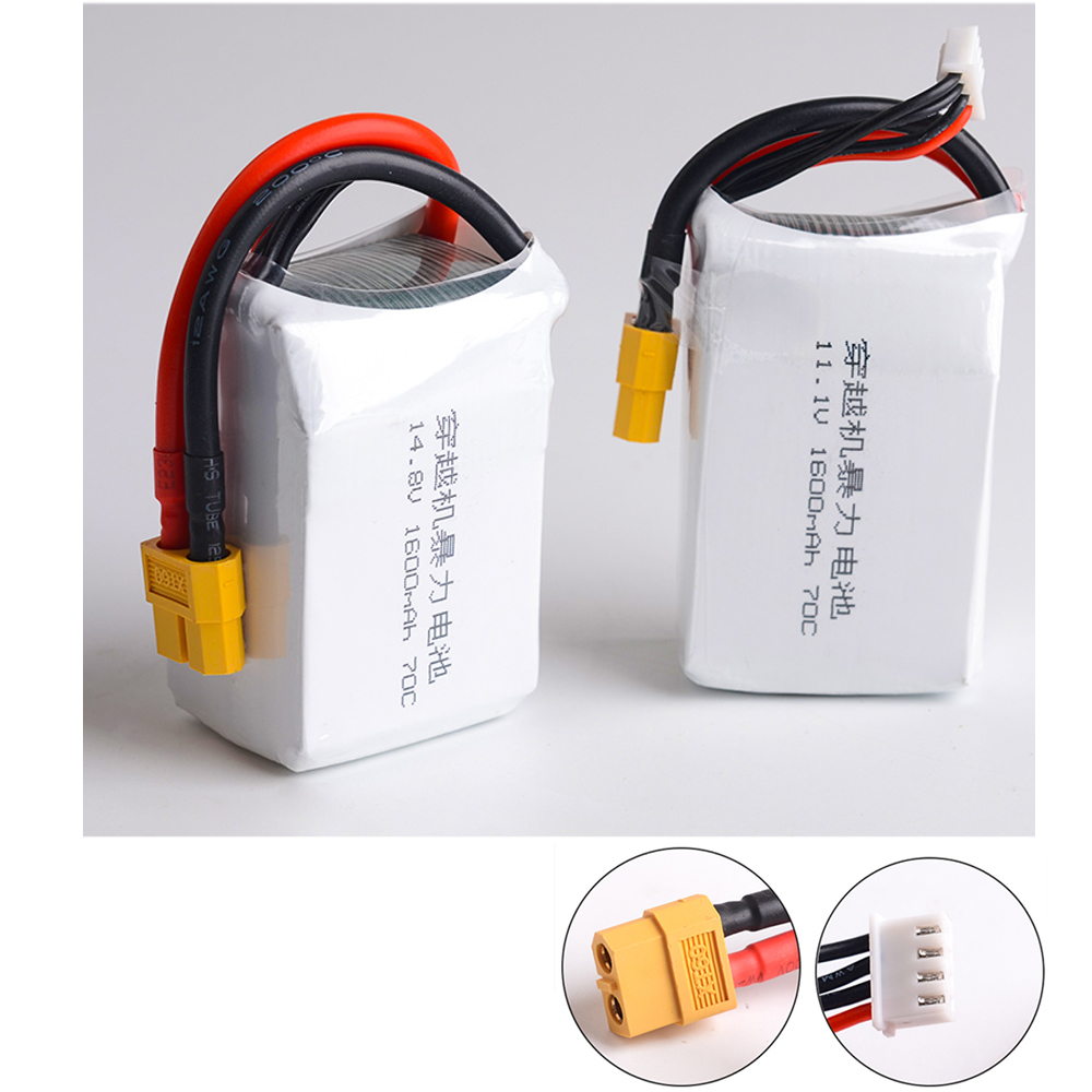 1pcs Lipo Battery 11.1v /14.8V 1600mAh 70C LiPo Battery 3S 4S For RC Helicopter RC Car Boat Quadcopter Remote Control Toys 6v 1600mah vb power receiver battery for rc car model plane wholesale price dropship freeshipping