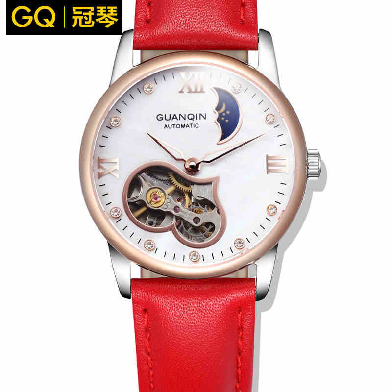 Watches women Luxury Brand GUANQIN Genuine Leather Strap Casual Waterproof Men's Watch Automatic relogio masculino watches women luxury brand guanqin genuine leather strap waterproof mechanical wrist watch for ladies relogio feminino