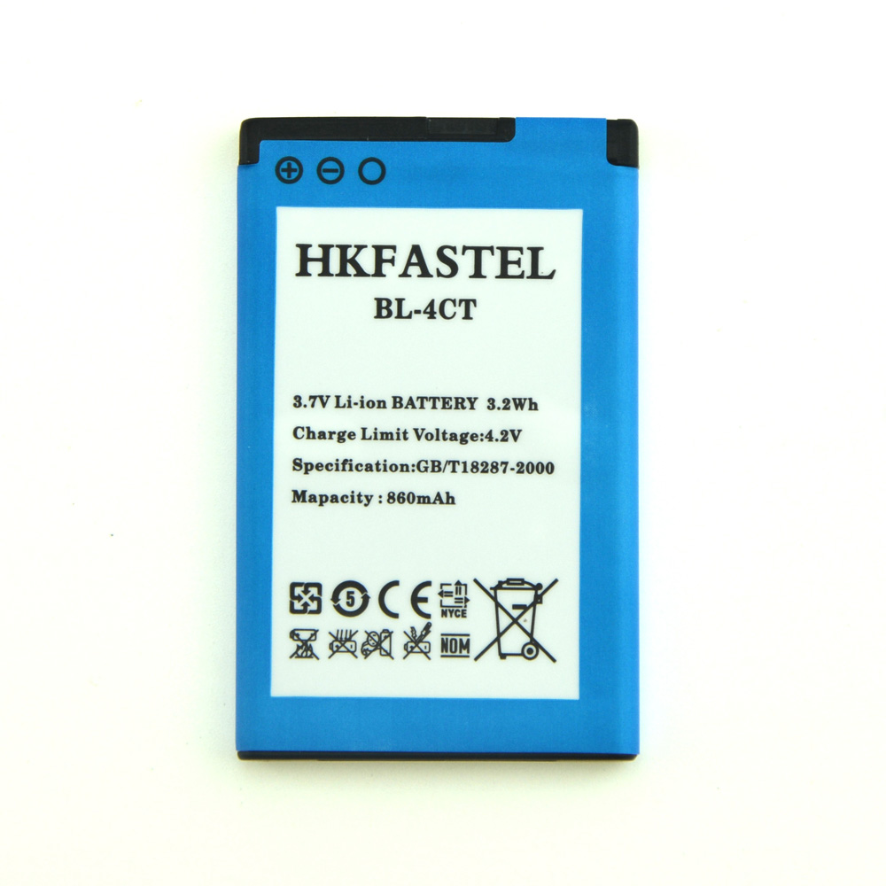 HKFASTEL New BL 4CT BL4CT Li ion Mobile Phone Battery For Nokia 2720 5310 5630 6600f 6700s 7230 7310s 7310 X3 X3 00 X3 01 860mAh in Mobile Phone Batteries from Cellphones Telecommunications