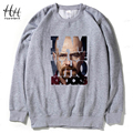 HanHent Fleece Thicken Sweatshirts Tracksuit Men Fashion Hoodies Pullover Breaking Bad Heisenberg Black Hood Men Moletom
