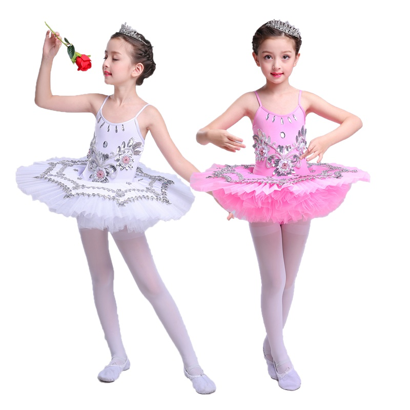 Aislor Womens Ballet Tutu Ruffle Skirt Costume Black Swan Lake Dance Leotard Dress