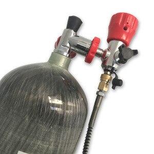 Image 4 - AC168101 Libero Da RUS Tutta Una Serie di Serbatoio Paintball PCP Aria Stazione di Refile Mescolati In Fibra di Carbonio Cilindro con Valvola di Riempimento