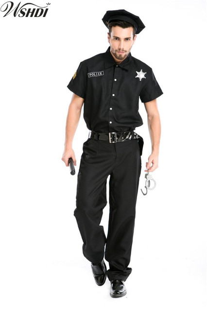5Pcs Man Adult Black Police Costume Halloween Man Cool Police Menu0027s Cosplay CostumesCop Army  sc 1 st  AliExpress.com & 5Pcs Man Adult Black Police Costume Halloween Man Cool Police Menu0027s ...