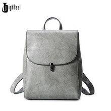 Highreal Для женщин Рюкзаки высокое качество Пояса из натуральной кожи подростков школьная сумка Сумки на плечо Для женщин Повседневное рюкзаков дорожная сумка J156
