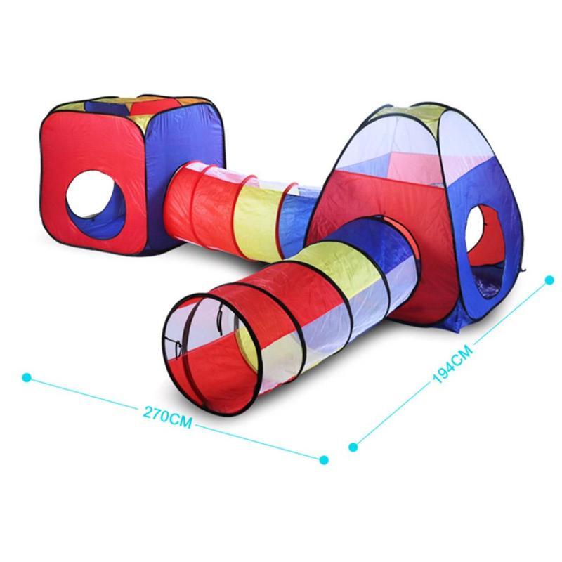 4 шт. детская палатка для помещений и улицы, детский игровой домик с океанским шариком, детский туннель из труб для ползания, игрушка, складная надувная палатка