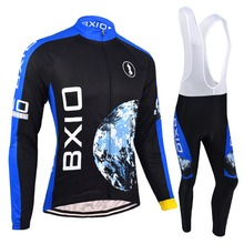 Cycling Long Sleeve Jersey Lycra Sport Wear Men Road Riding Outfits Garments Cycle Team Racing Maillots BXIO BX-0109H055