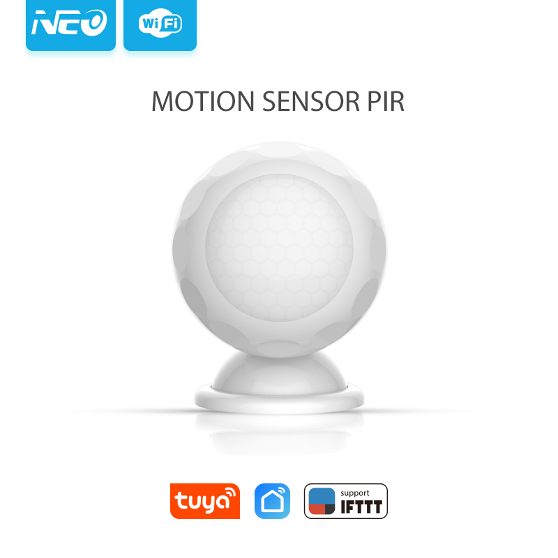 NEO NAS-PD02W WiFi Smart PIR Sensor/ Motion Sensor Home Automation Alarm System Motion Alarm
