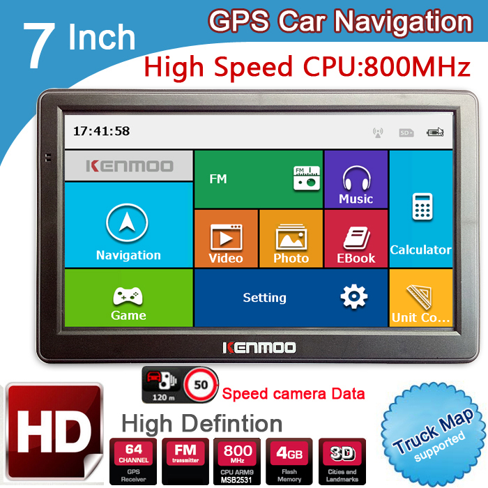 New 7 inch HD GPS Car Navigation 800M/FM/8GB/DDR3 2018 Maps For Russia/Belarus/  Europe/USA+Canada TRUCK Navi Camper Caravan