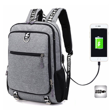 Купить с кэшбэком New Backpack men youth fashion multifunctional oxford casual laptop backpack school usb charge waterproof travel bags male bolsa