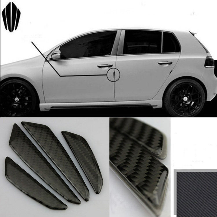 Savanini 4pcs Black Carbon Fibre Auto Car Door Anti Scratch Guard Protector  Bumper In Car Stickers From Automobiles U0026 Motorcycles On Aliexpress.com ...