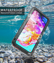 For Samsung Galaxy A70 Case Love Mei Shock Dirt Proof Water Resistant Metal Armor Cover Phone Case For Samsung Galaxy A70 universal water resistant bag for samsung galaxy s4 green