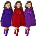 2015 roupa Nova Meninas Jaquetas Casacos para As Meninas Da Flor Do Bebê Para A Primavera Outono Roupa Dos Miúdos Top Trespassado crianças Outwear