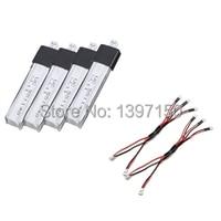WLtoys 4 Pcs 200 mAh Batteries et 2 Pcs De Charge Câbles KV911-006 pièces De Rechange pour WLtoys V911