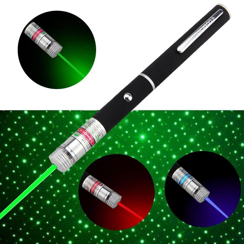 Spēcīgs sarkans / zaļš / violets 3 krāsas lāzera rādītājs Lampas pildspalvu lāzera lāzers 1MW Lazer 532nm LED medību lampai