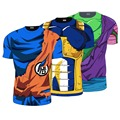 2016 Dragon Ball Z Hombres 3D Balldragon bola camiseta hombres anime camiseta 3d camiseta impresa camisa de compresión de Fitness t