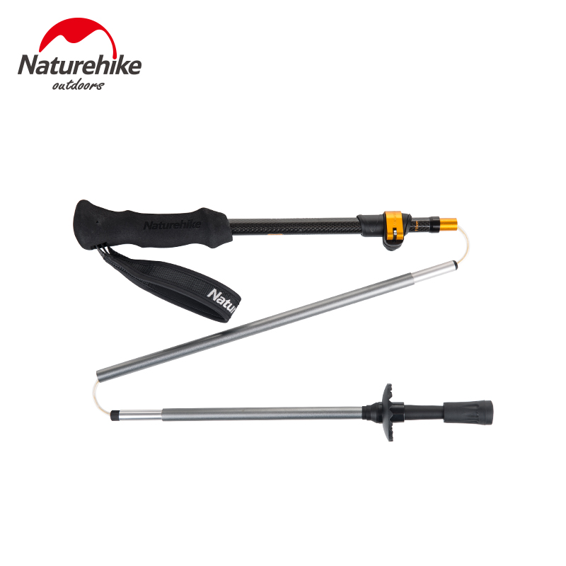NatureHike 5 section 1 Pcs Carbon Fiber Ultralight Walking Stick Cork Adjustable Trekking Pole Hiking Stick