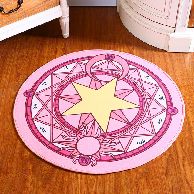 1Pcs Absorbent Non slip Round Cartoon Cute Sakura Magic circle ...