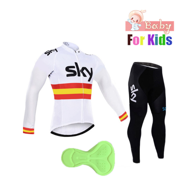 Children's Pro Team Cycling Jerseys Long Sleeve Autumn Outdoor Cycling Clothing Set Ropa Ciclismo KIds Bicycle Clothing Suits top quality racing cycling club pink stripe cycling jerseys pro team tight fit long sleeve cycling clothing bicycle shirt