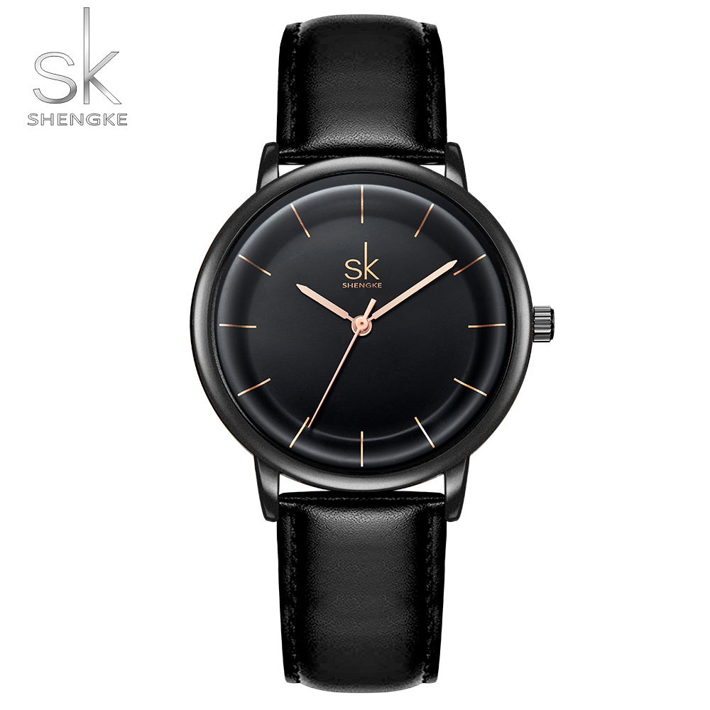609d3e67ef5 Aliexpress.com : Buy Women Watches Shengke Top Brand Luxury Fashion Female  Quartz Wrist Watch Ladies Leather Waterproof Clock Girl Relogio Feminino  from ...