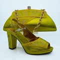Итальянский Дизайн Моды Женская Обувь И Соответствующие Сумки Установить Африканская Женщина HigHh Каблуки Обуви И Сумка Набор Для Партии CP63010-178