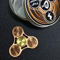 Cobre spinner Spinner FIDGET mano Divertida Creativa MANO Juguetes De Latón EDC Para El Autismo y ADHD Tiempo de Rotación Larga Anti Estrés juguetes