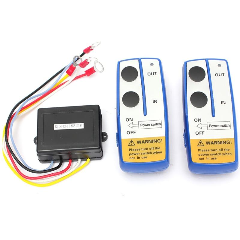 imágenes para 3Pcs12V Universal Car Auto Wireless Winch Control Remoto Doble Auricular Dos Transmisores de Igualada Fácil de Instalar