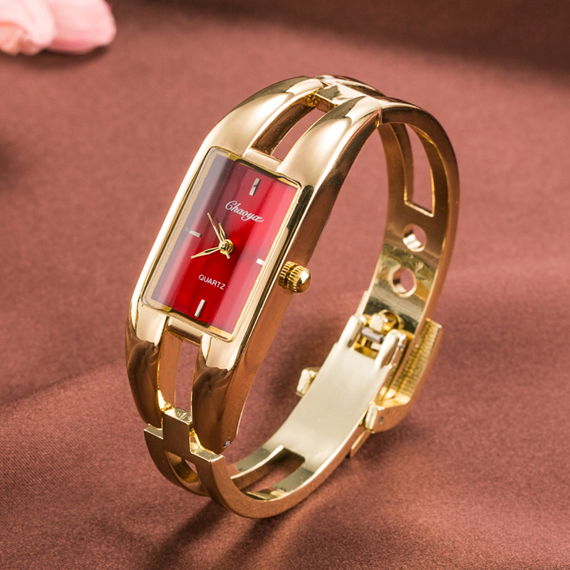 CYD2018 Women Watch Bracelet Gold Fashion Luxury Brand Watches Silver Bangle Quartz Stainless Steel Case Waterproof Ladies Watch